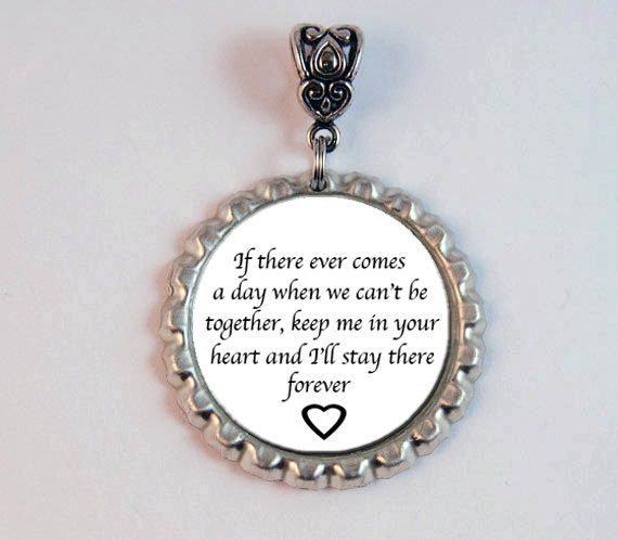 memorial bridal bouquet charm in memory quote