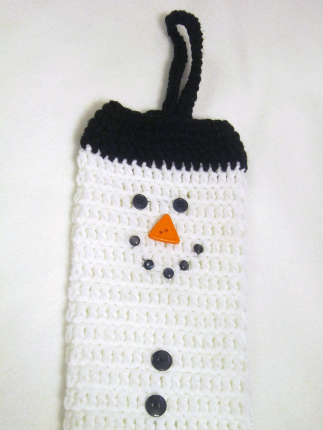 crochet snowman plastic bag holder walmart bag holder. Black Bedroom Furniture Sets. Home Design Ideas