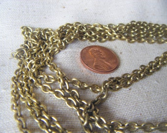 Vintage Raw Solid Antique Brass Cable Chain (6 feet - 2 yards) Unsoldered, 4x5mm