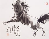 original horse painting chinese painting ink painting  oriental art chinese art -galloping horse No.2