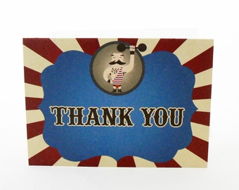 Strong Man Circus Thank You Card