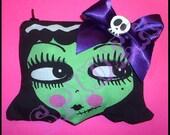 Franken Doll Coin Purse Zipper Pouch Coinpurse  Dollface  Spooky Cutie Frankenstein Dolly