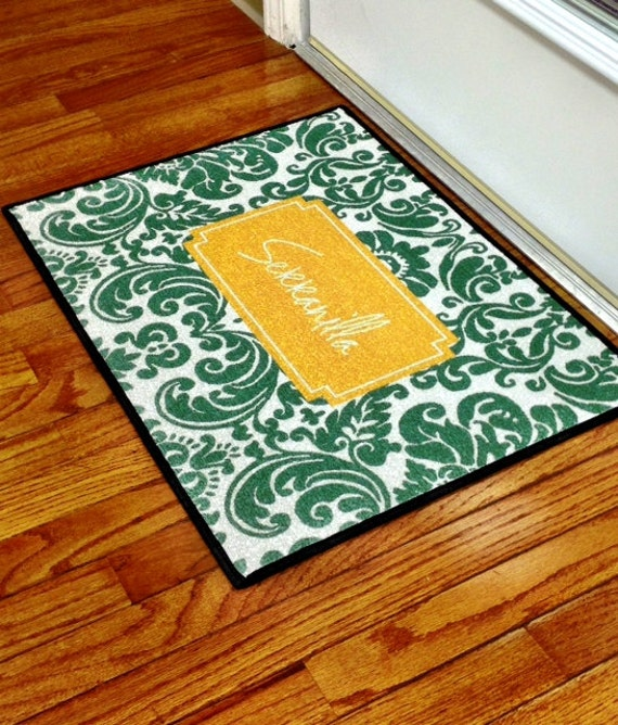 Personalized Door Mat Indoor And Outdoor Use By Rrpage On Etsy