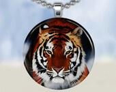 Tiger Necklace - Glass Tile Pendant (ETCC1)
