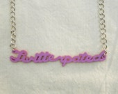 Twitterpated Necklace - Lavender
