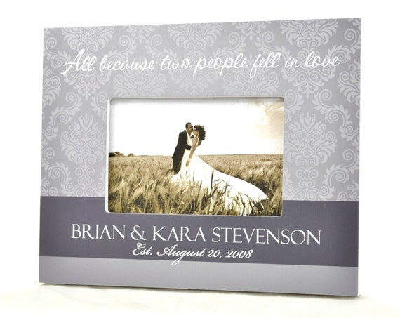 Personalized Picture Frame for 4x6 Photo Wedding or Anniversary Gift UPAB-01