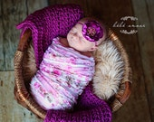Orchid blanket/wrap - MADE TO ORDER