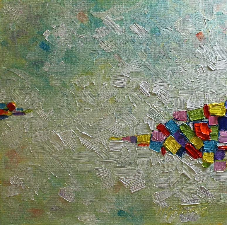 Reduced price original oil painting happy life modern for Oil paint price