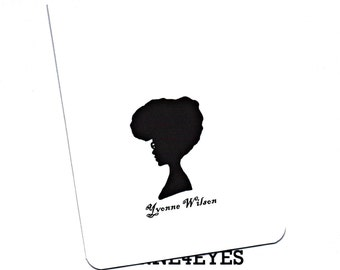 CUSTOM Stationary Cards (Set of 8) with Silhouette