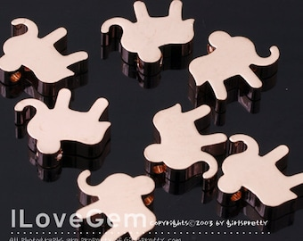 WSALE / 10 pcs /  NP-1449 Rose Gold plated, Elephant, pendant