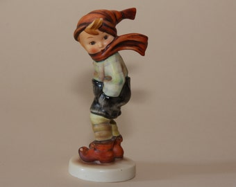 Hummel Figurine - March Winds - 43  TMK1 Incised Crown - 5-1/4""