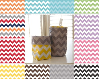 Wastebasket car trash can collapsible use anywhere crafting thread catcher CHOOSE your own chevron laminated cotton waterproof WASTIE