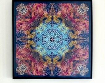 Sacred Geometry Art 24x24'' Mandala Giclee