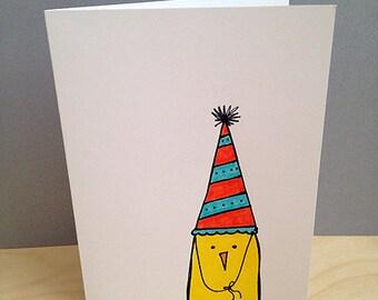 Birthday Bird Notecard