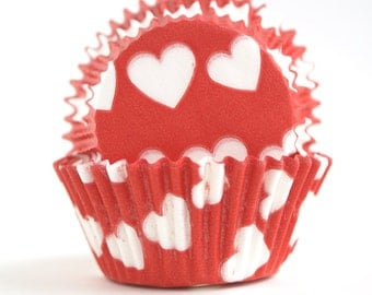 Red Heart Cupcake Liners (60)