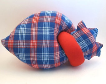 Plush heart anatomical stuffed red heart toy