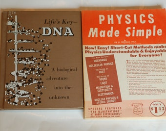 Two vintage science books - Physics Made Simple and Life's Key- DNA