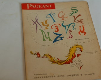 Extremely rare issue of Pageant Magazine featuring an early Dr Seuss article and back cover ad