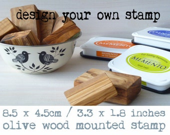 Made To Order Olive Wood Stamp With Your Design