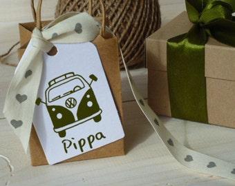 Custom VW Camper Van Olive Wood Stamp