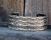 Vintage Wide Cuff Bracelet in Sterling Silver