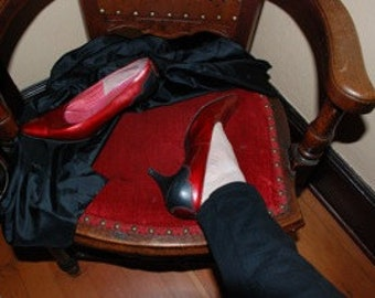 Red and Black Patent Leather Shoes