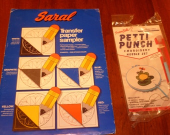 Susan Bate's Petti Punch Embroidery Tool and Saral Transfer Paper Set