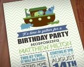 NOAH'S ARK Boy Birthday Printable Invitation