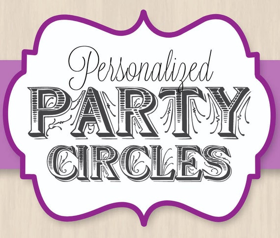 PERSONALIZED Cupcake Toppers and Party Circles