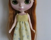 Handmade dress for Blythe, Momoko and other similar sized doll or BJD's Doll Clothes
