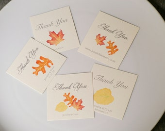 Fall Leaf Tags - Wedding Tags - Weddings - events - Parties - paper goods - decoration