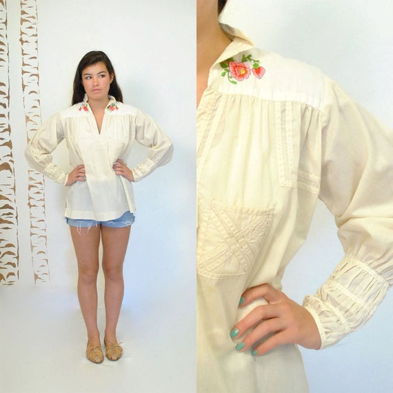 Reserved... Mexican Embroidered Blouse  //  Ethnic Tunic  //  SOUTH of the BORDER