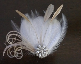 Hair Accessory,bridal Feathers Fascinator, wedding  Feathers Fascinator,bridal head piece,wedding hair piece