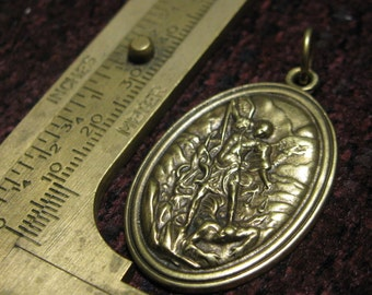Bronze medal St Michael The Archangel Relgious Catholic jewelry pendant for necklace rosary charm bracelet