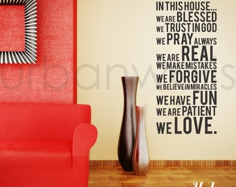 Vinyl Wall Decal Sticker Art, We are blessed