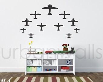 Vinyl Wall Sticker Decal Art - Airplanes