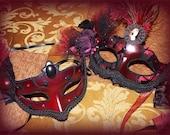 Duke and Duchess of Burgundy OOAK Masquerade Ball Masks