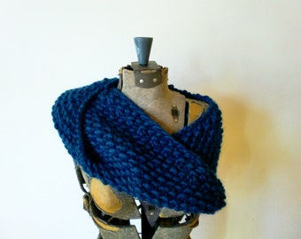 Cowl Neck Warmer MADE TO ORDER - hand knitted extra bulky merino wool
