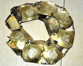 Antique Columbia Native Brass Link Belt