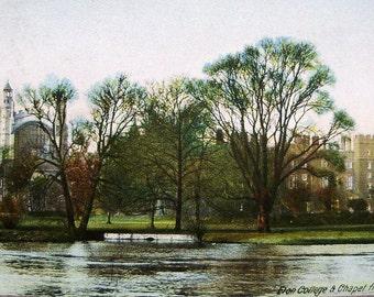 Eton College, Windsor, England - Antique English Postcard