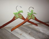 custom painted wood hangers for WEDDINGS, bridesmaids, teacher gifts, college organizations, graduation, or even birthdays
