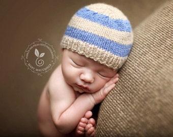 15% off SALE  Newborn photo prop, newborn hat, newborn boy, newborn girl, knit newborn hat, newborn props, Newborn striped beanie, 50 colors