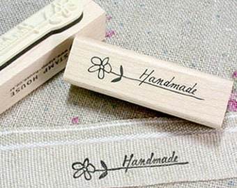 Flower Handmade Stamp (2.4 x 0.7in)