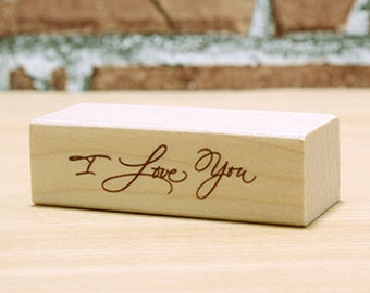 I Love You Stamp (2 x 0.6in)