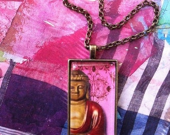 The Far East Buddha Pendant Necklace 24 Inch Chain Alteredhead On Etsy Pendant Statement Necklaces On Etsy Themed Necklace Popular On Etsy