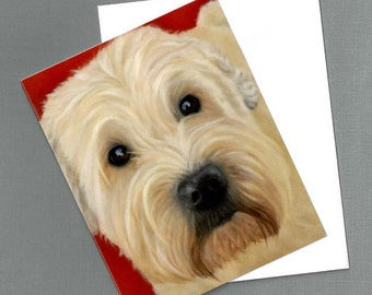 Wheaton Terrier Note Cards - 4 Pack - Smooth Coated Wheaton Cards - Dog Art Note Cards - Proceeds Benefit Animal Charity