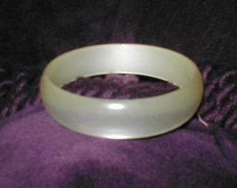 Vintage  Moonglow Lucite Bangle Bracelet