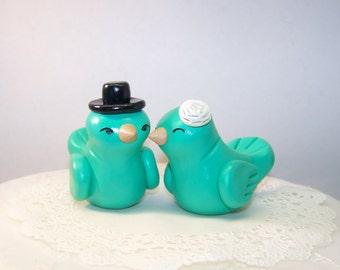 Wedding Birds Cake Topper High Fashion Decor - Colors of Choice