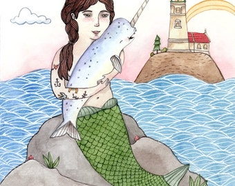Miss Your Hugs Narwhal Card