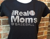Discontinued/sale The Real Moms of Baseball Rhinestone Heat Transfer- DIY